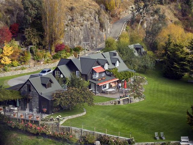 Arial view of Trelawn Place B&B accommodation Queenstown
