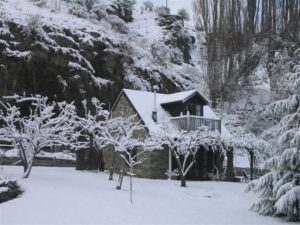 Stone Cottage in winter