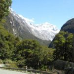 Driving beside Hollyford Valley