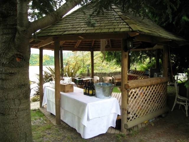 The gazebo used as a bar for events and weddings