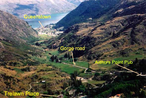 Map of Gorge Road, Queenstown and Trelawn Place