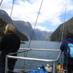 On a cruise at Milford Sound
