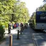 Tour bus first stop after Te Anau